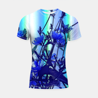 Blue Wildflowers With Backlight Shortsleeve rashguard thumbnail image