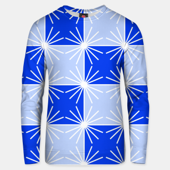 Thumbnail image of Abstract geometric pattern - blue and white. Unisex sweater, Live Heroes