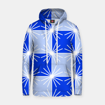 Thumbnail image of Abstract geometric pattern - blue and white. Hoodie, Live Heroes