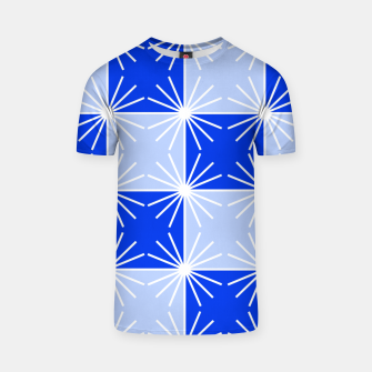 Thumbnail image of Abstract geometric pattern - blue and white. T-shirt, Live Heroes