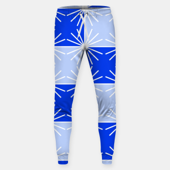 Thumbnail image of Abstract geometric pattern - blue and white. Sweatpants, Live Heroes
