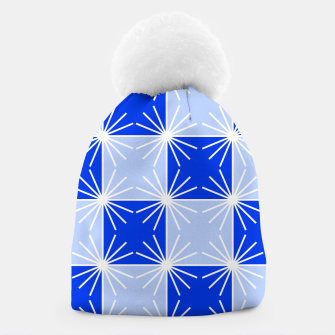 Miniaturka Abstract geometric pattern - blue and white. Beanie, Live Heroes