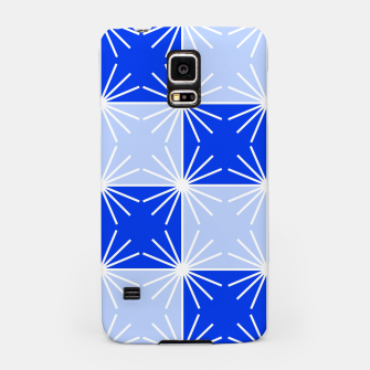 Thumbnail image of Abstract geometric pattern - blue and white. Samsung Case, Live Heroes