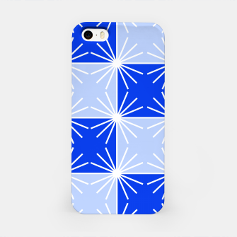 Thumbnail image of Abstract geometric pattern - blue and white. iPhone Case, Live Heroes