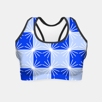 Imagen en miniatura de Abstract geometric pattern - blue and white. Crop Top, Live Heroes