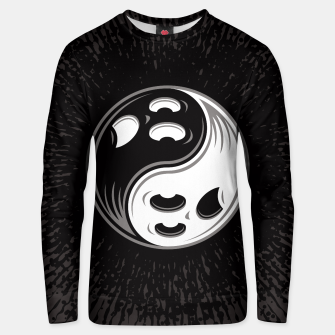 Miniatur Ghost Yin Yang Black and White Unisex sweater, Live Heroes