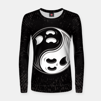 Thumbnail image of Ghost Yin Yang Black and White Women sweater, Live Heroes