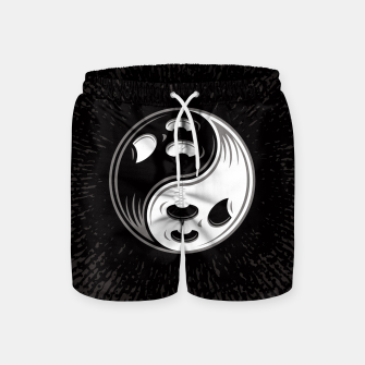 Thumbnail image of Ghost Yin Yang Black and White Swim Shorts, Live Heroes