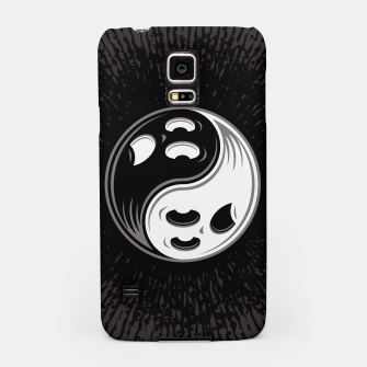 Miniatur Ghost Yin Yang Black and White Samsung Case, Live Heroes