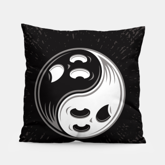 Miniature de image de Ghost Yin Yang Black and White Pillow, Live Heroes