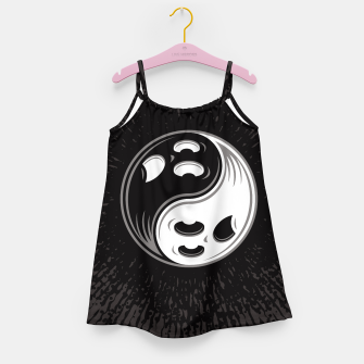 Miniatur Ghost Yin Yang Black and White Girl's dress, Live Heroes