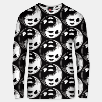 Thumbnail image of Ghost Yin Yang Black and White Pattern Unisex sweater, Live Heroes