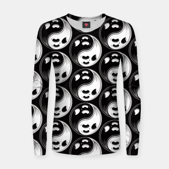 Thumbnail image of Ghost Yin Yang Black and White Pattern Women sweater, Live Heroes