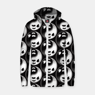 Miniature de image de Ghost Yin Yang Black and White Pattern Zip up hoodie, Live Heroes