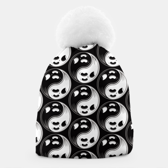 Miniatur Ghost Yin Yang Black and White Pattern Beanie, Live Heroes