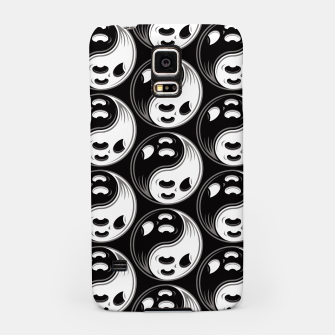 Miniatur Ghost Yin Yang Black and White Pattern Samsung Case, Live Heroes