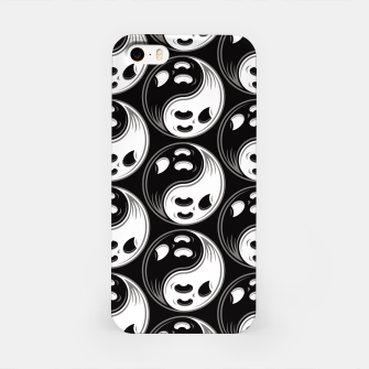Miniatur Ghost Yin Yang Black and White Pattern iPhone Case, Live Heroes