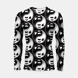 Thumbnail image of Ghost Yin Yang Black and White Pattern Longsleeve rashguard , Live Heroes