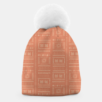 Thumbnail image of Bohemian Oriental Traditional African Moroccan Style Pattern Beanie, Live Heroes