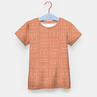 Thumbnail image of Bohemian Oriental Traditional African Moroccan Style Pattern Kid's t-shirt, Live Heroes