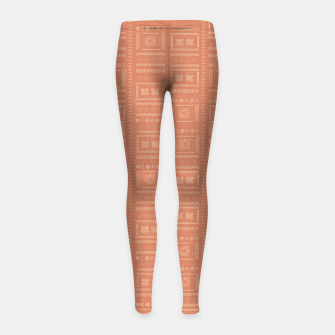 Thumbnail image of Bohemian Oriental Traditional African Moroccan Style Pattern Girl's leggings, Live Heroes