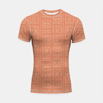 Thumbnail image of Bohemian Oriental Traditional African Moroccan Style Pattern Shortsleeve rashguard, Live Heroes