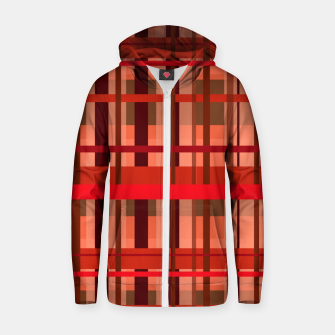 Fall Plaid Zip up hoodie thumbnail image