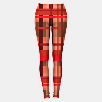 Miniaturka Fall Plaid Leggings, Live Heroes