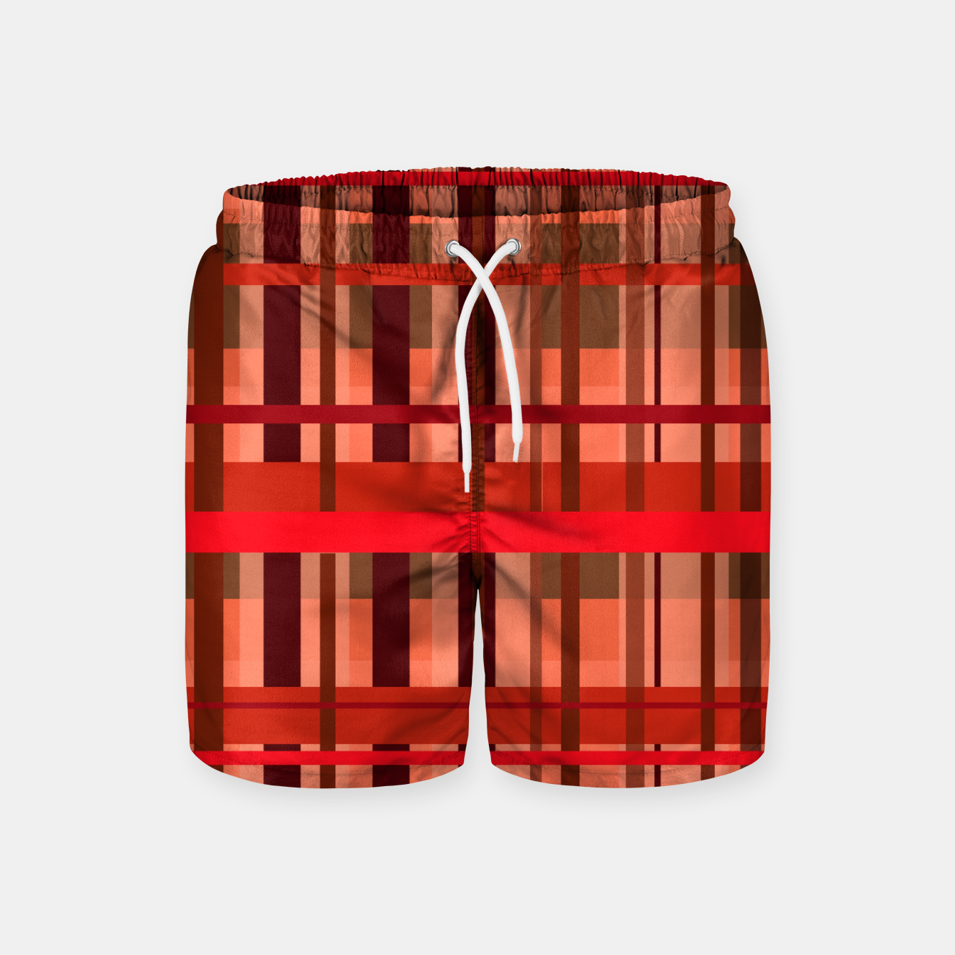 Image of Fall Plaid Swim Shorts - Live Heroes
