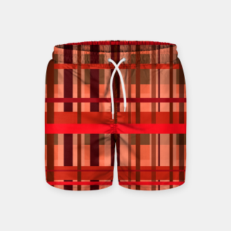 Thumbnail image of Fall Plaid Swim Shorts, Live Heroes