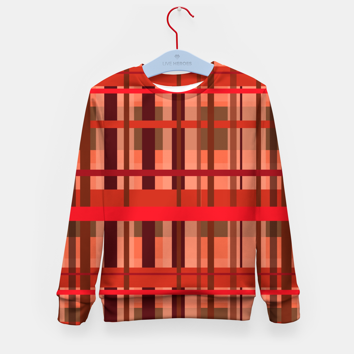 Image of Fall Plaid Kid's sweater - Live Heroes