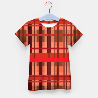 Imagen en miniatura de Fall Plaid Kid's t-shirt, Live Heroes