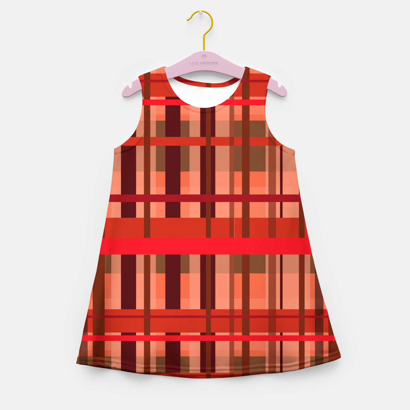 Image of Fall Plaid Girl's summer dress - Live Heroes