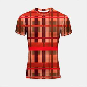 Thumbnail image of Fall Plaid Shortsleeve rashguard, Live Heroes