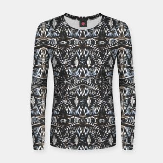 Thumbnail image of Modern Tribal Geometric Print Women sweater, Live Heroes