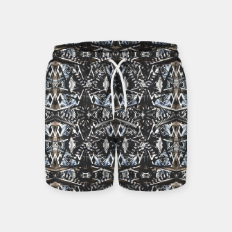 Thumbnail image of Modern Tribal Geometric Print Swim Shorts, Live Heroes
