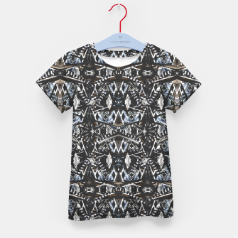 Thumbnail image of Modern Tribal Geometric Print Kid's t-shirt, Live Heroes