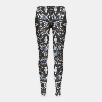 Thumbnail image of Modern Tribal Geometric Print Girl's leggings, Live Heroes