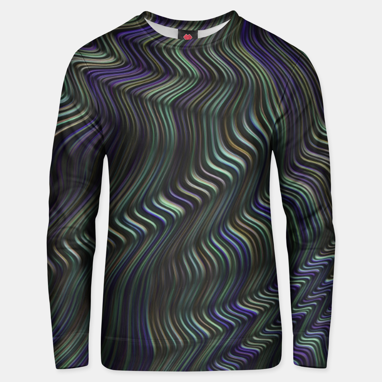 Image of Blue Green Wave Unisex sweater - Live Heroes