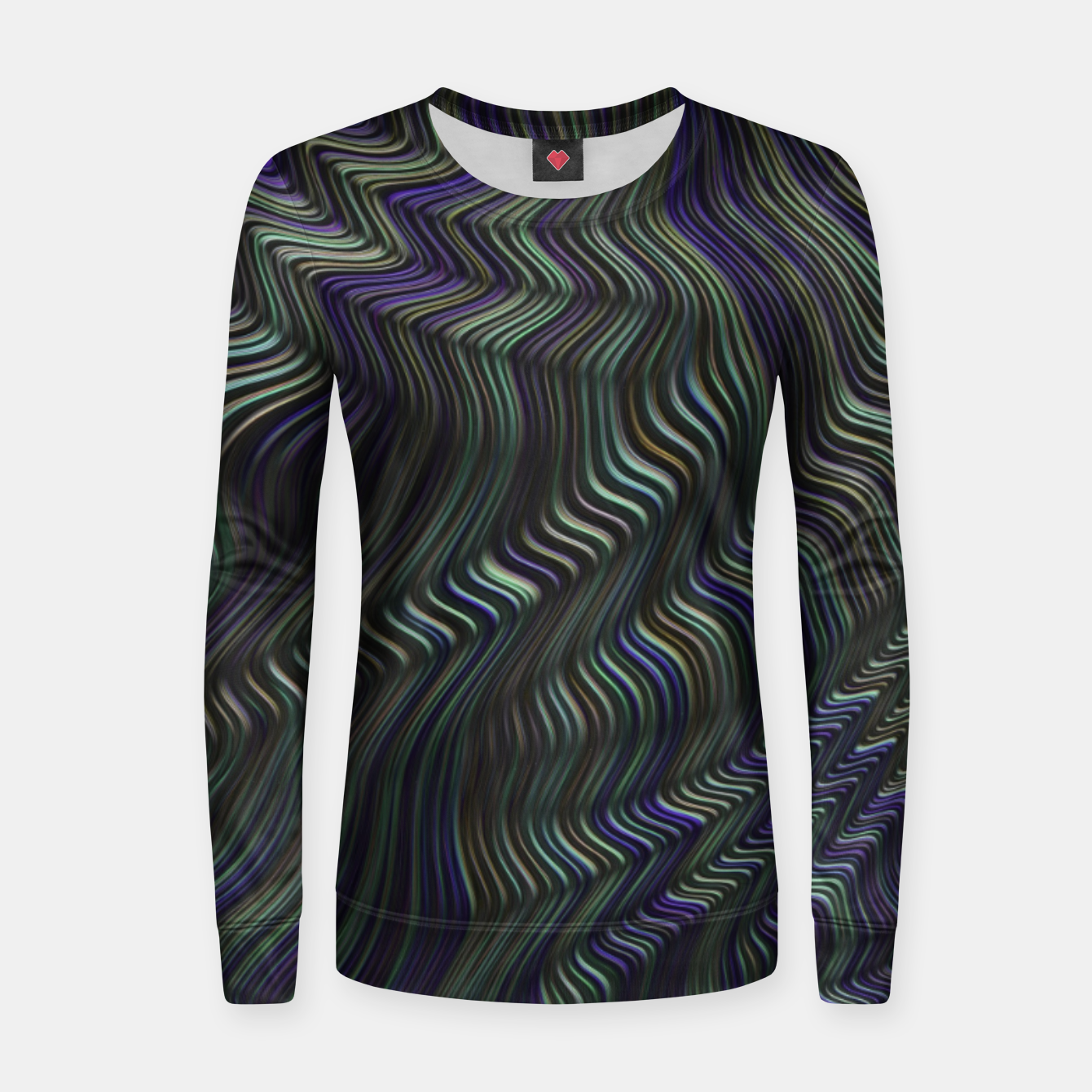 Image of Blue Green Wave Women sweater - Live Heroes
