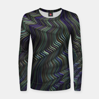Thumbnail image of Blue Green Wave Women sweater, Live Heroes