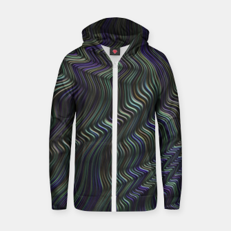 Blue Green Wave Zip up hoodie thumbnail image