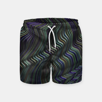 Blue Green Wave Swim Shorts thumbnail image
