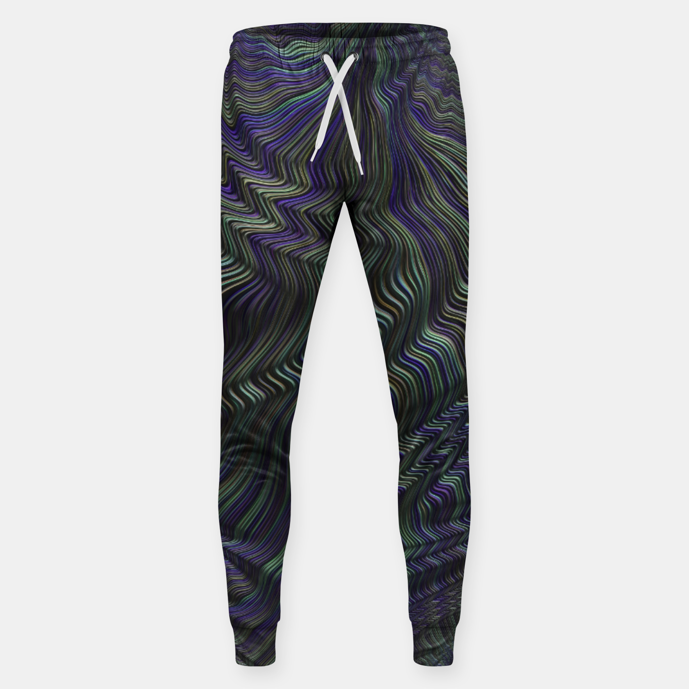 Image of Blue Green Wave Sweatpants - Live Heroes