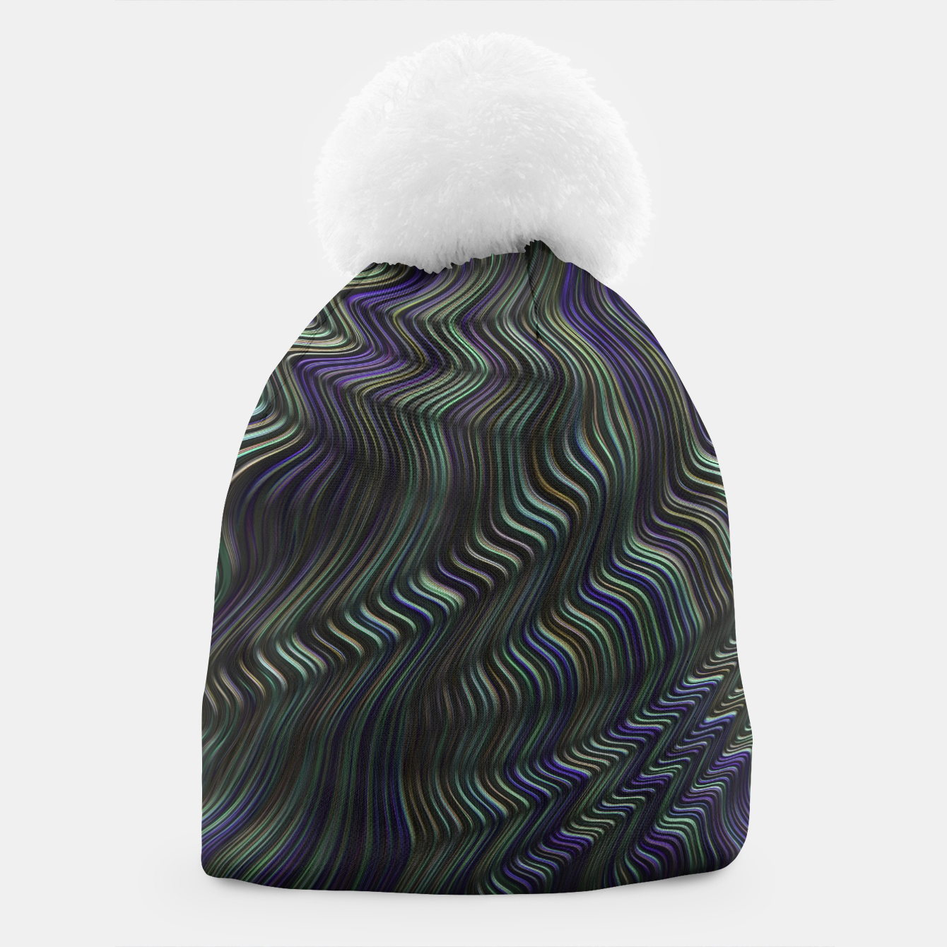 Image of Blue Green Wave Beanie - Live Heroes