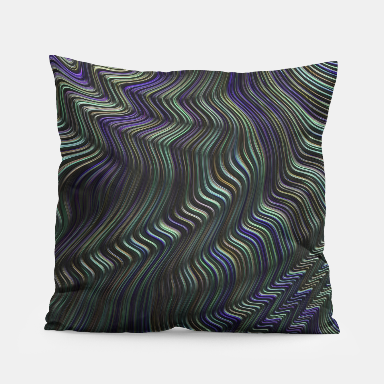 Image of Blue Green Wave Pillow - Live Heroes