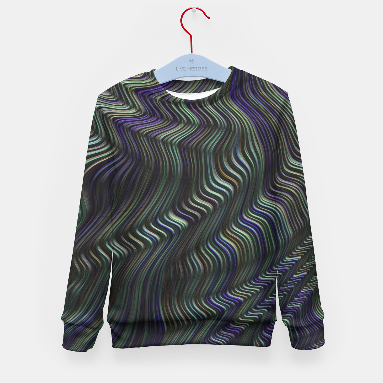 Image of Blue Green Wave Kid's sweater - Live Heroes