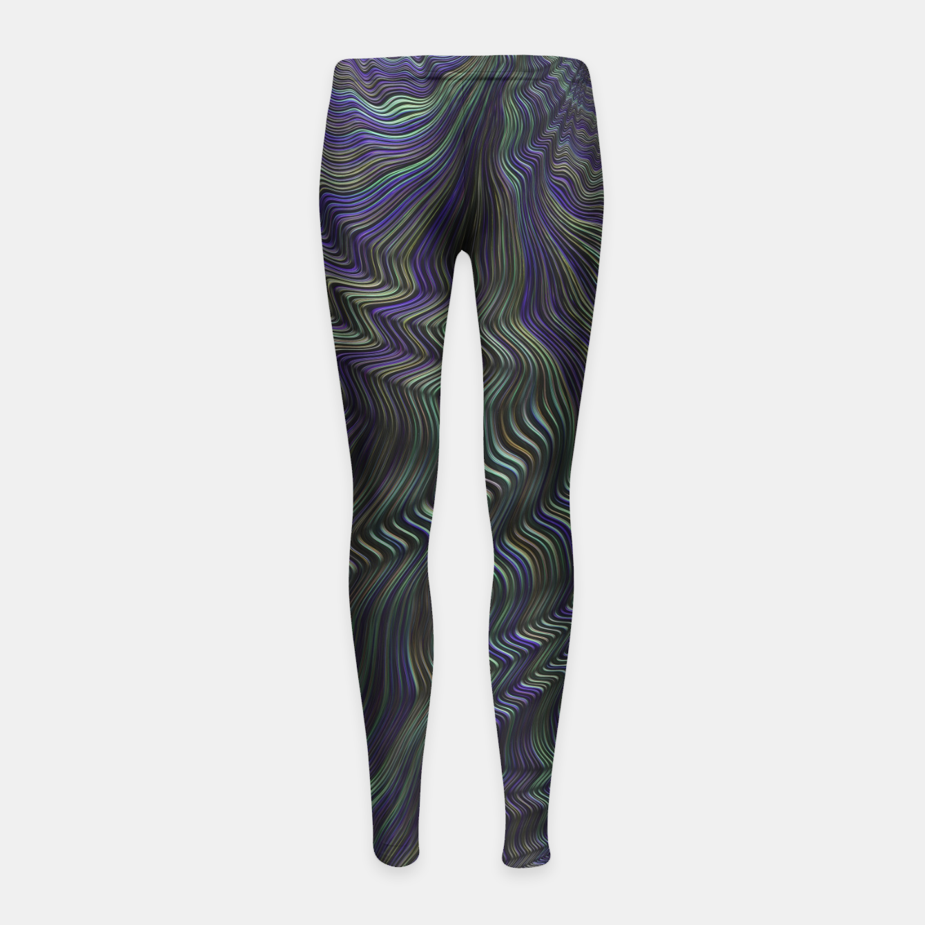 Image of Blue Green Wave Girl's leggings - Live Heroes