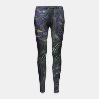 Thumbnail image of Blue Green Wave Girl's leggings, Live Heroes