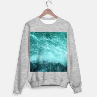 Thumbnail image of green ocean splash Sweater regular, Live Heroes